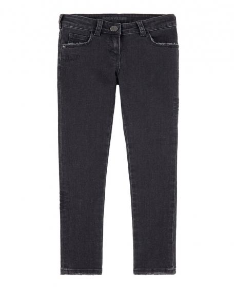 Pantalon Niña ZADIG & VOLTAIRE Negro Mariposa Bordada