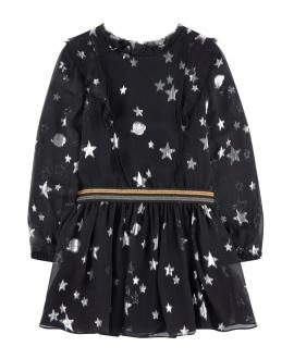 Vestido Niña ZADIG & VOLTAIRE Negro Estrellas