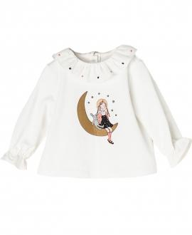 Camiseta Punto Crudo NANOS Bebe Niña Luna
