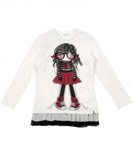 Camiseta Niña L:U L:U Muñeca Gafas