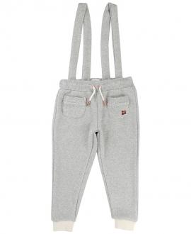 Pantalon Niña CARREMENT BEAU Gris Tirantes