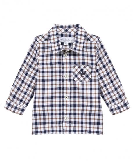 Camisa Niño TARTINE ET CHOCOLAT Cuadros Marino