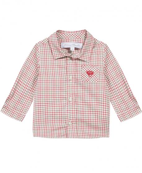 Camisa Niño TARTINE ET CHOCOLAT Cuadros Roja