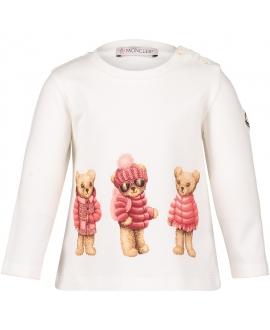 Camiseta MONCLER Bebe Niña Rosa Osos