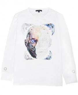 Camiseta Niño FRANKIE MORELLO Cara Robot Blanca