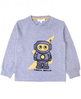 Camiseta Bebe Niño FRANKIE MORELLO Robot Gris