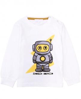 Camiseta Bebe Niño FRANKIE MORELLO Robot Blanco