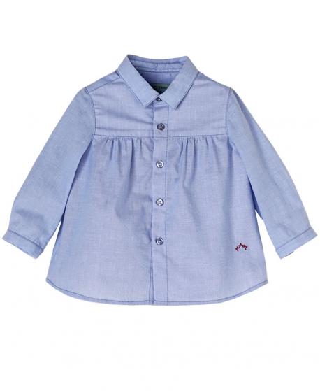 Camisa Algodón Celeste Bebe Niño NANOS