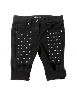 Pantalon Niña MICROBE Negro Corazones