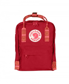 Mochila FJALLRAVEN Kanken Mini Red Folk Pattern