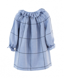 Vestido Niña CASILDA Y JIMENA Azul Cuadro Marino