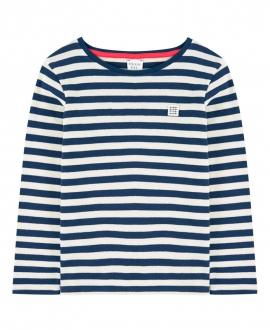 Camiseta Niño CARREMENT BEAU Rayas Marino