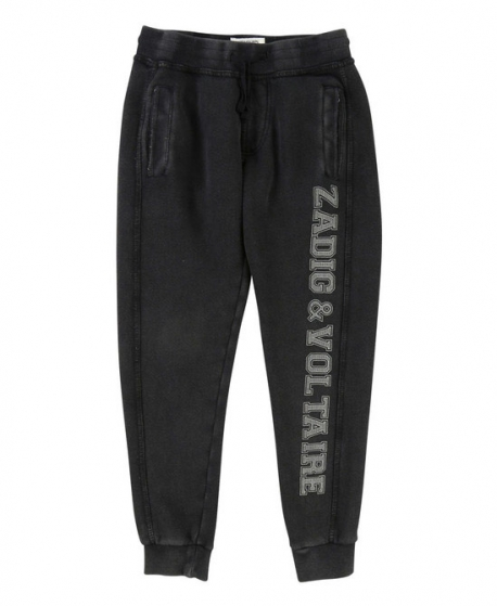 Pantalon Niño ZADIG & VOLTAIRE Sport Negro con Logo