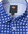 Camisa Niño BUGATTI Azul Cuadros
