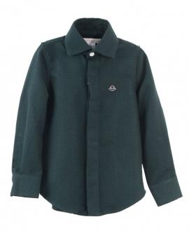 Camisa Niño CASILDA Y JIMENA Sastre Vichy Negra Verde