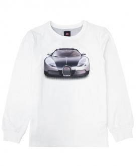 Camiseta Niño BUGATTI Blanca Coche
