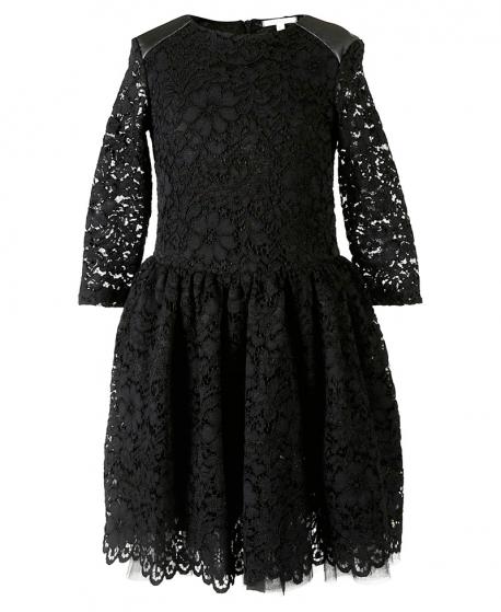 Vestido Niña MISS GRANT Negro Puntilla