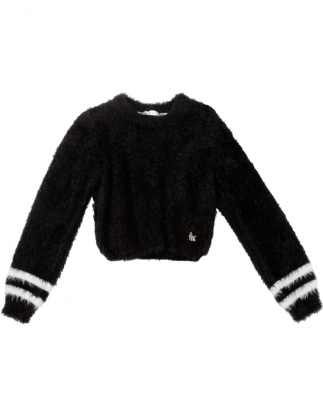 Jersey Niña L:U L:U Lana Pelo Negro