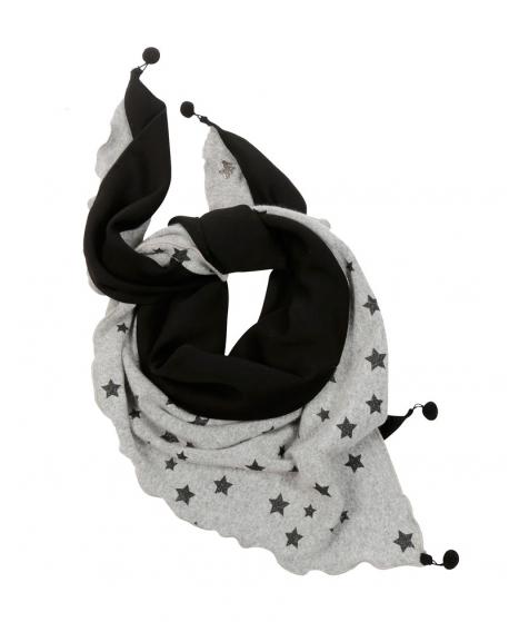 Foulard Niña L:U L:U Gris Estrellas