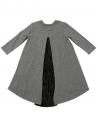 Vestido Niña L:U L:U Gris Tela Plisada