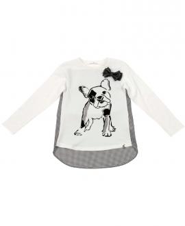 Camiseta Niña L:U L:U Estampado Perro Pug