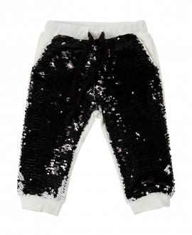 Pantalon Bebe Niña MICROBE Negro Lentejuelas