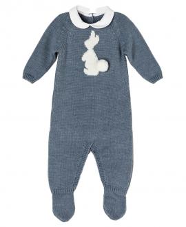 Pelele Azul Jeans NANOS Bebe Niño Conejo