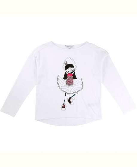 Camiseta Niña LITTLE MARC JACOB Bailarina Blanca