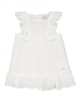 Vestido Bebe Niña TARTINE ET CHOCOLAT Plisado Blanco