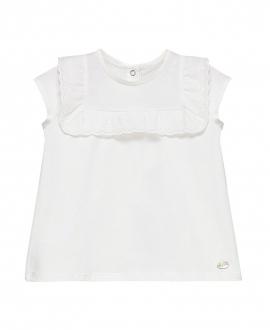 Camiseta Bebe Niña TARTINE ET CHOCOLAT Blanca Volantes
