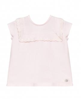 Camiseta Bebe Niña TARTINE ET CHOCOLAT Rosa Palo Volantes
