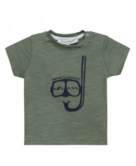 Camiseta Niño TARTINE ET CHOCOLAT Caqui Buceador