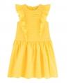 Vestido Niña TARTINE ET CHOCOLAT Pliegues y Volantes Amarillo