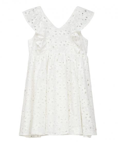 Vestido Niña TARTINE ET CHOCOLAT Blanco Perforado