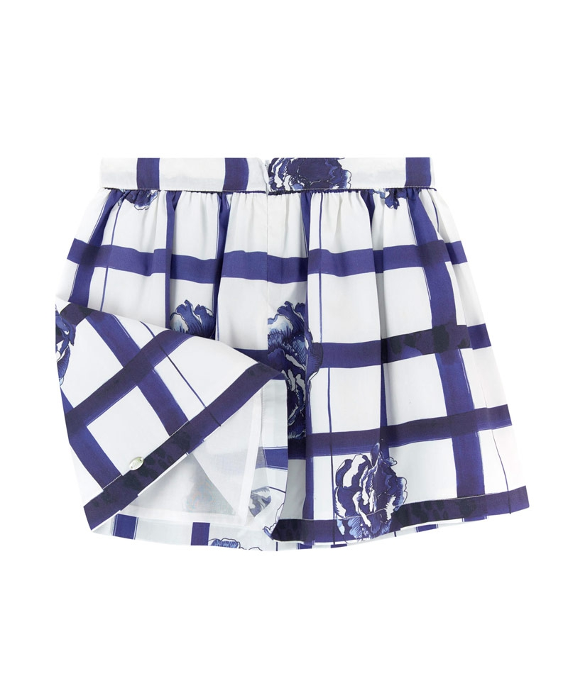 76876f1cf Falda Niña TARTINE ET CHOCOLAT Cuadros Blanco y Azul - Ro Infantil