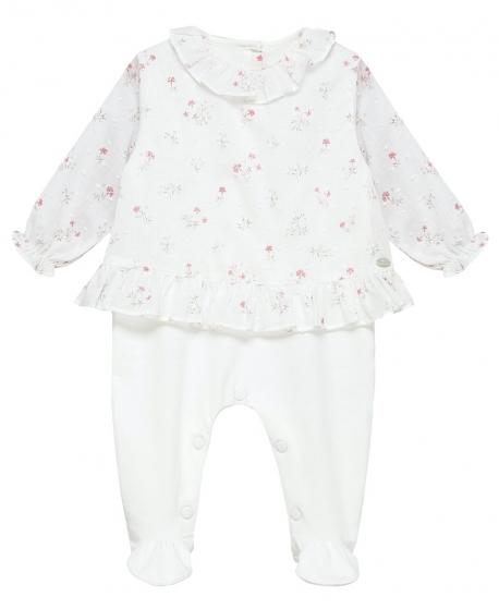 Pijama Bebe Niña TARTINE ET CHOCOLAT Blanco Punto Suizo