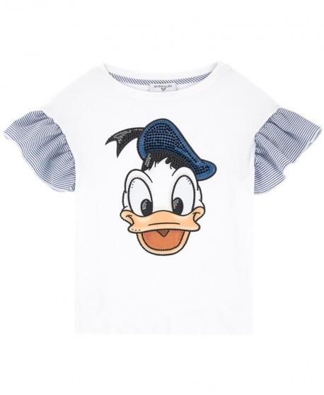 Camiseta Niña MONNALISA Donald Mangas Volantes