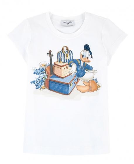 Camiseta Niña MONNALISA Pato Donald Maletas