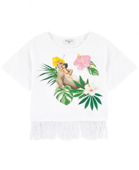 Camiseta Niña MONNALISA El Libro de la Selva Flecos