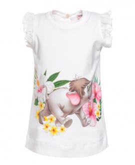 Camiseta Larga Bebe Niña MONNALISA El Libro de la Selva
