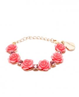 Pulsera Niña MONNALISA Rosas Rosa