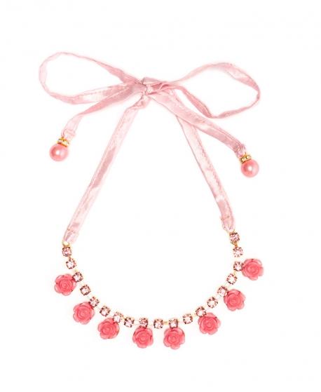 Collar Niña MONNALISA Rosas Rosa