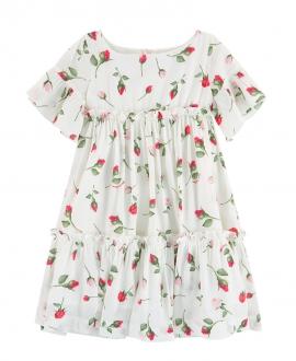 Vestido Niña MONNALISA Estampado Rosas