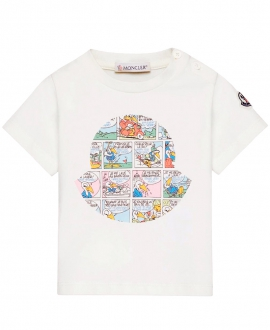 Camiseta Bebe Niño MONCLER Logo Comic