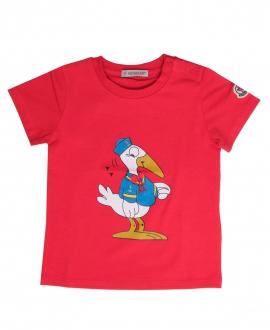 Camiseta Bebe Niño MONCLER Roja Pato Marinero
