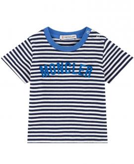 Camiseta Bebe Niño MONCLER Rayas Marino