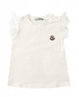 Camiseta Bebe Niña MONCLER Mangas Perforadas