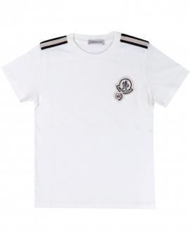 Camiseta Niño MONCLER Basic Logo Blanca