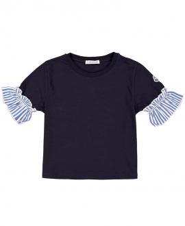 Camiseta Niña MONCLER Marino Mangas Rayas