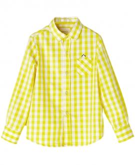 Camisa Popelin Amarillo NANOS Niño Cuadros